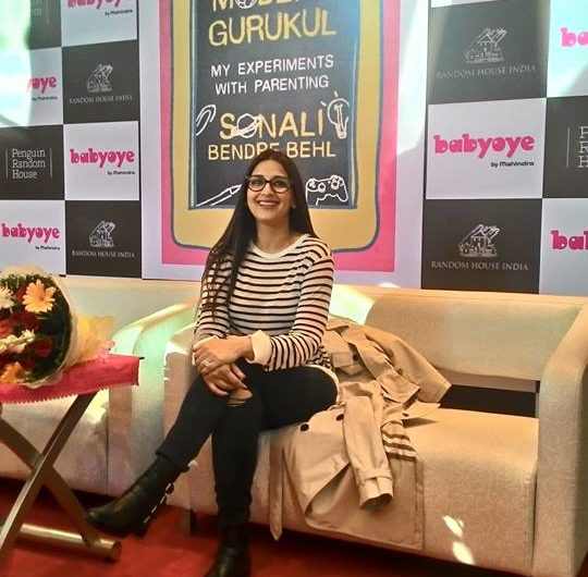Sonali Bendre on parenting at her book launch
