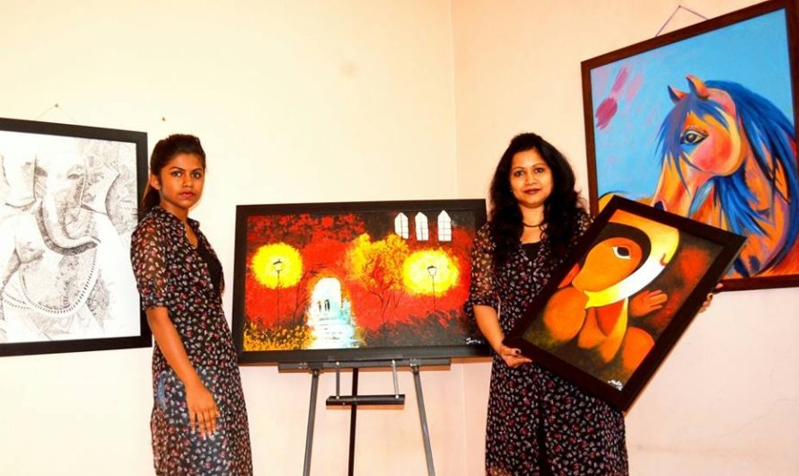Mallika Rai being an artsy mum