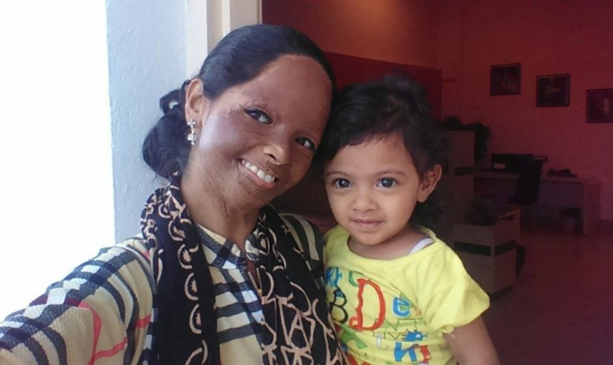 Acid attack fighter Laxmi sharing a few glimpses of her motherhood moments