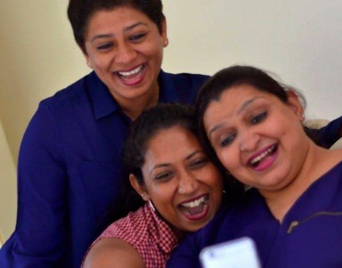 Ribu Sarah Mathews and her besties- Friendship day series