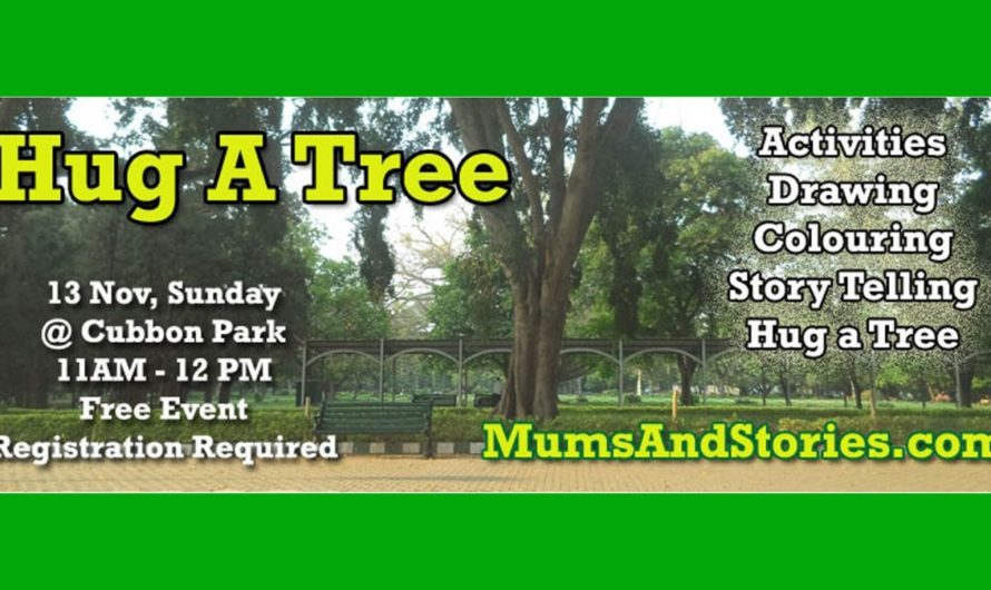 Hug a Tree initiative on November 13th , 2016