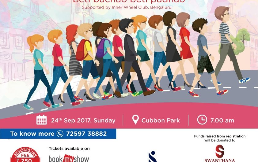 Walkathon on Daughter's Day at Cubbon Park