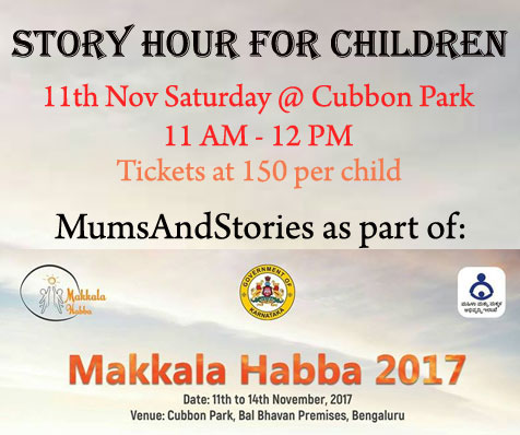 Story hour by Mums and Stories at Makkala Habba
