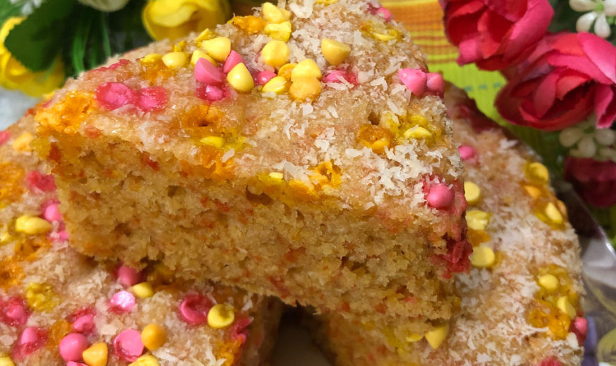 Coconut Carrot Cake By Rupali -Mad About Cooking