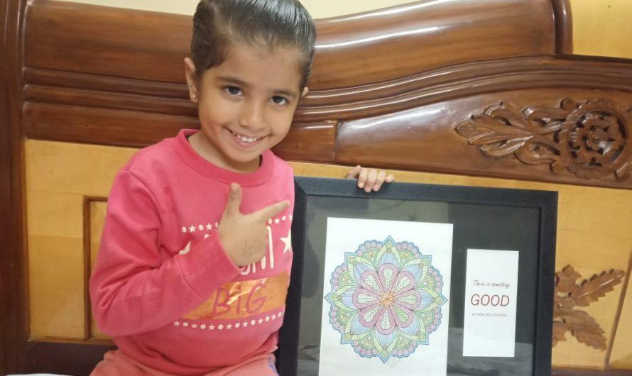 Mukta Basandani talks on her five year old Kamakshi's Mandala pursuits