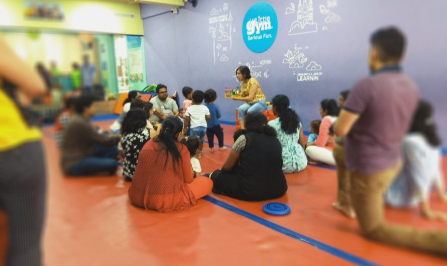 Photographs of Toddler Fun Hour event by Mums and Stories at The Little Gym