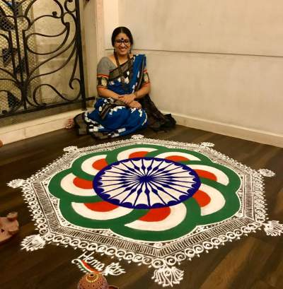 Hema Kannan says her Kolams are her way to connect with the divine, young and herself.
