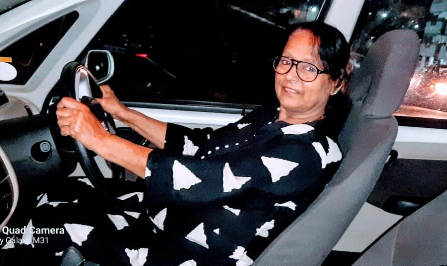 Joya Dasgupta says learning to drive at the age of 65 was one of the best decisions made