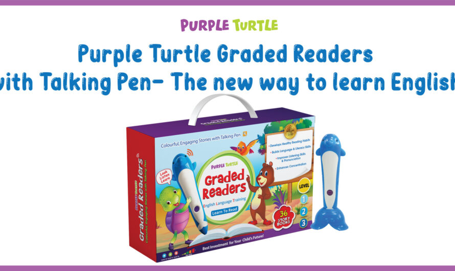 Purple Turtle Graded Readers with Talking Pen- The new way to learn English